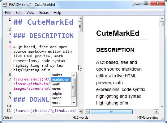 CuteMarkEd - The open source, cross-platform Markdown editor